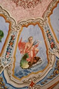 Από την επίσκεψη στο αρχοντικό Κόη με τις περίφημες οροφογραφίες